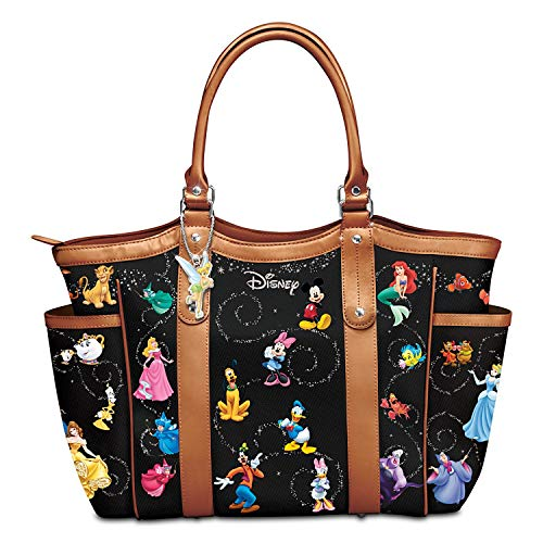 (The Bradford Exchange Disney Handbag With Character Art And Tinker Bell Charm)
