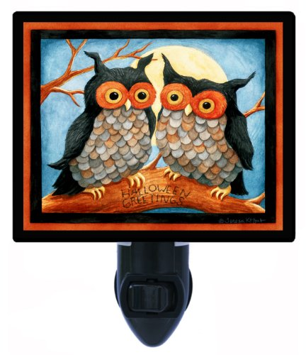 Halloween Night Light - Owl Duo (Costume Duos)