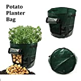 Xiaolanwelc@ Garden Potato Grow Bag Green Plastic Vegetables Planter Bag Access Flap Harvesting Flower Plants Nursery Pots Garden Tools