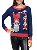 Tipsy Elves Women's Santa's Little Helpers Christmas Sweater: Small