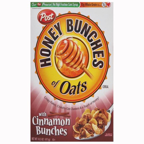 Honey Bunches of Oats with Cinnamon Bunches, 14.5-Ounce Boxes (Pack of 4) - Honey Bunches Of Oats Cinnamon
