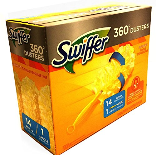 Swiffer Duster 360 Handle with Refills, 14 Count (Swiffer 360 Extender)