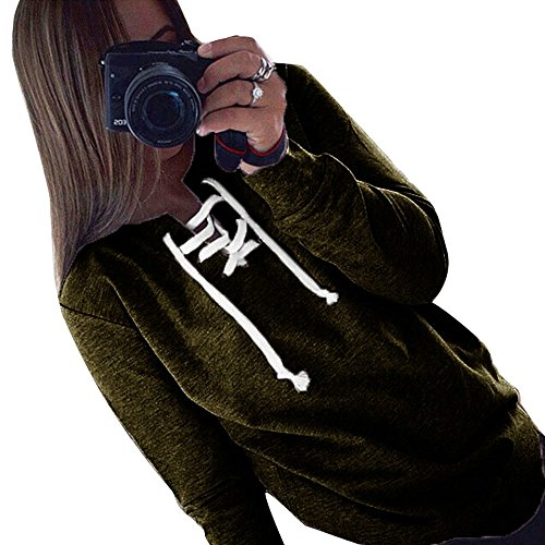 Longues Sweat Femme Shirt Pull Arm Aelegant Lacet Hoodie Manches Automne Pa1qYw