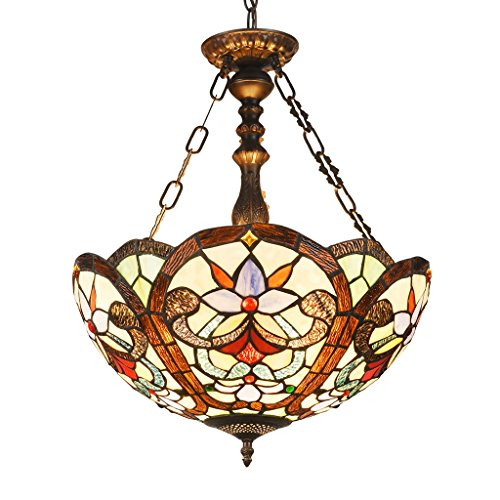 Victorian Glass Pendant Light in US - 9