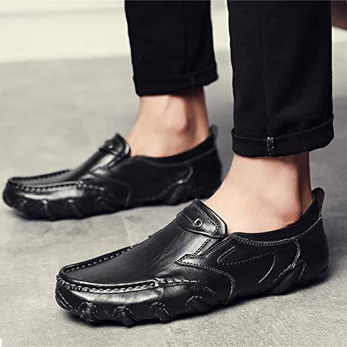 Moda Verano Slip Mocasines Cuero Caminar para Transpirable Zapatos Otoño YaXuan para Zapatos Comfort para Zapatos y Ons Hombres Do Conducir Primavera awBvXq