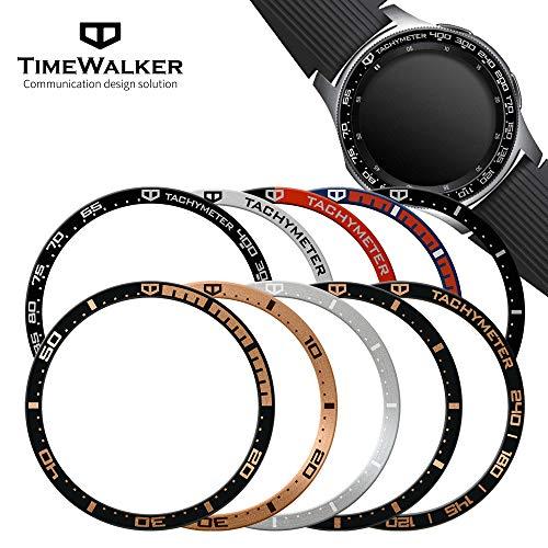 [해외]글레이즈 시계 46mm & ォ ? ク (프론티어클래식) 알루미늄 베젤 링 베젤 커버 (5 타입 Desgin) 스크래치 방지 제품 보호 효과 특수 설계 변경 새로운 갤럭시 시계 & GearS3_Black / Glaxy Watch 46mm & Gear S3 (FrontierClassic) Aluminium Bezel R...