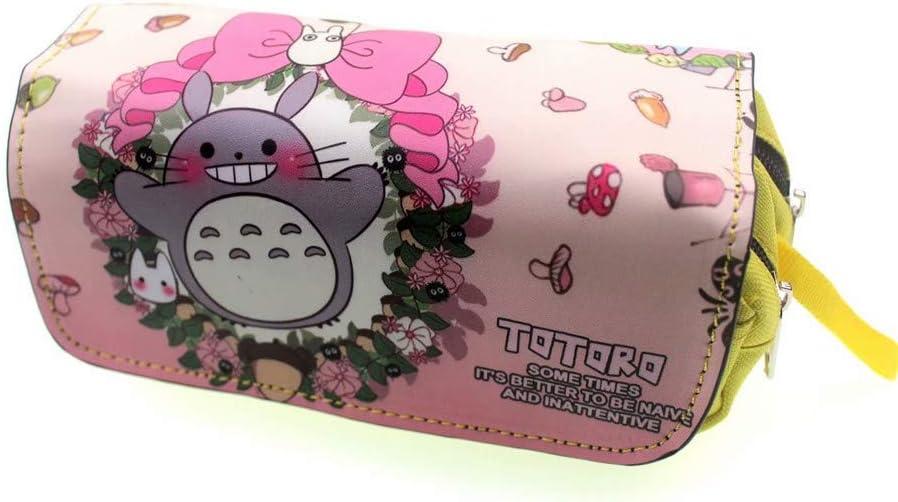 My Neighbor Totoro - Estuche giratorio con cremallera doble para lápices, bolsa de almacenamiento: Amazon.es: Oficina y papelería