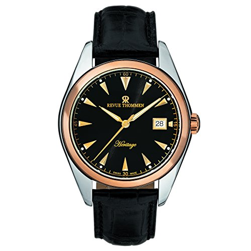 Revue Thommen Men's 21010-2557 Heritage Automatic Black Watch