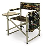 PERSONALIZED EMBROIDERED Sports Director Chair With Side Table and Pocket- Camouflage