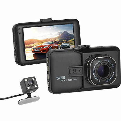 econoLED Dash Cam Pro Car Dash AUTO Camera,Car DVR Night Vision,WDR,Full HD 170°Wide Angle Dashboard Camera,G-sensor Motion Detection AUTO Recording US Seller (Car DVR + Rear Camera)