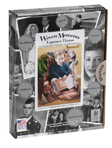 Photo Blankets Woven (Manual Woven Moments Photo to Tapestry Kit Throw Blanket)