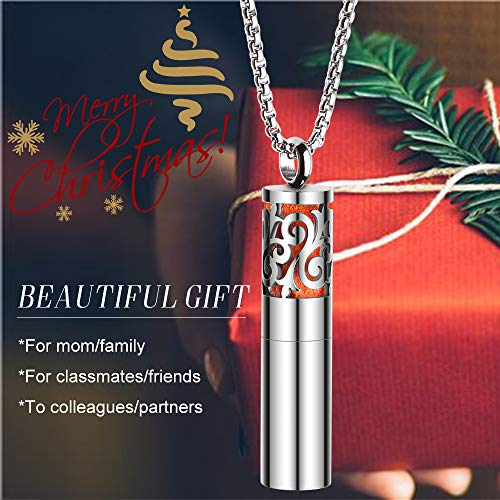 Diffuser Necklace Essential Oil Container Pendant Stainless Steel Locket Jewelry Pearl Chain