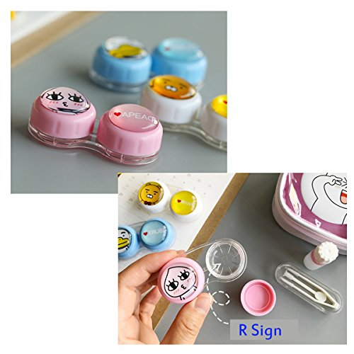 Contact Lens Case with Mirror Contact Lens Case Travel Kit Cute Contact Lense Case Cute Contact Lens Case 3 Pack by Sunflower Innovative Store (Image #2)