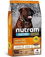 طعام الكلاب الكبيرة البالغة S8 من نوترام لصحة متوازنة، 11.4 كجم