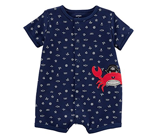 Carter'S Baby Boys' Crab Snap-Up Cotton Romper 24 Months, Navy