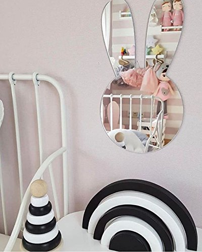 Bunny Mirror - LiCheng Acrylic Mirror for Nursery Decorations Kids Baby Room Rabbit