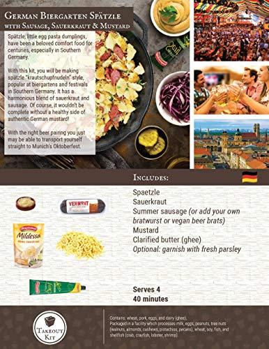 Takeout Kit, German Spaetzle Meal Kit, Serves 4 by Takeout Kit (Image #3)