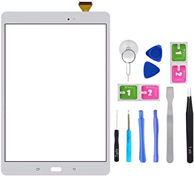Tefir Blanco Pantalla táctil de Cristal para Samsung Galaxy Tab A ...
