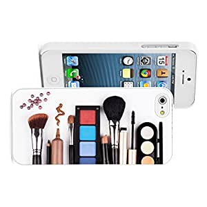 For SamSung Note 2 Phone Case Cover Hard Back Color Makeup Artist Brush Cosmetics (White)