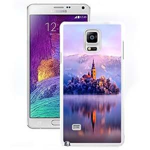 Beautiful Unique Designed Samsung Galaxy Note 4 N910A N910T N910P N910V N910R4 Phone Case With Lake Monastery Fortress Winter_White Phone Case