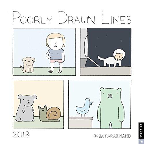 Poorly Drawn Lines 2018 Wall Calendar