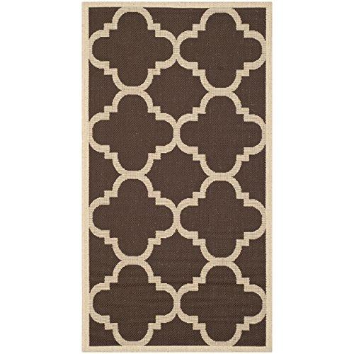 Safavieh Courtyard Collection CY6243-204 Dark Brown Indoor/ Outdoor Area Rug (2'7