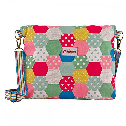 15SS Folded Kidston Colourful Cath Messenger Reversible Bag Patchwork Natural Spot vzxwqFBnw