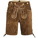 Gaudi-leathers Men's Traditional Pants Short 50 Light Brown
