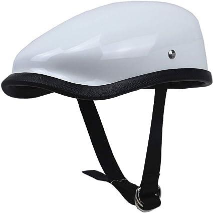 Amazon.es: Estilo japonés Retro Motocicleta Casco Ligero Peso Fibra de Vidrio Medio Cascos Adultos Confort Seguridad Berets Casco de Ciclismo 57-64cm Seasons Universal