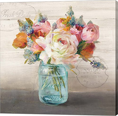 French Cottage Bouquet II by Danhui Nai Canvas Art Wall Picture, Gallery Wrap
