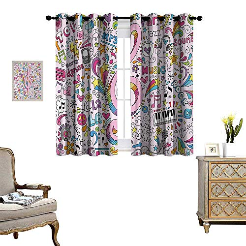 Anyangeight 70s Party Patterned Drape for Glass Door