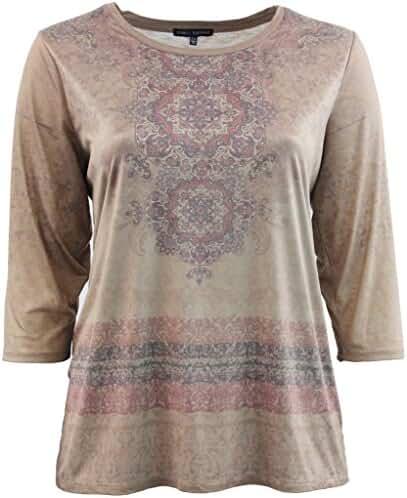 Women's Plus-Size Elegant Short Sleeve Fashion T-Shirt Blouse Tee Shirt Top