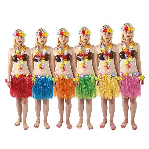 P Tit Payaso - Falda Hawaiana - Cinturón con Flores - Color ...