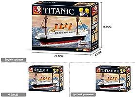 Sluban Slubanm38-B0576 Titanic Building Bricks Set Small