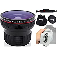 Opteka 0.20X Professional HD Super AF Wide Angle Fisheye Lens with Microfiber Cloth for Olympus EVOLT E-5, E-520, E-510, E-500, E-450, E-420, E-410, E-400, E-330 and E-300 Digital SLR Cameras