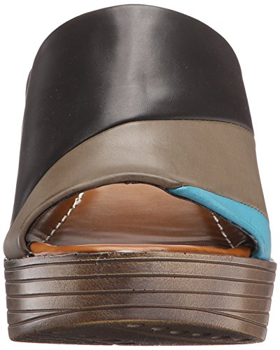 Albany Lips Women Too 2 Too Sandal Wedge Black 1Ivqd7qx