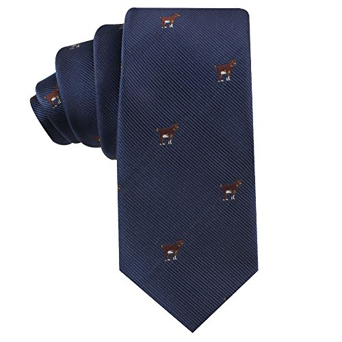 Goat Tie for Men | G.O.A.T Neckties | Gift for Men | Work Ties for Him | Birthday Gift for Guys (Brown Goat) ()