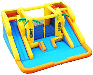 Blast Zone Rainforest Rapids Inflatable Bouncer with Slides by Blast Zone
