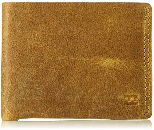 Billabong Men's All Day Leather Wallet Tan One Size (Billabong Card Wallet)