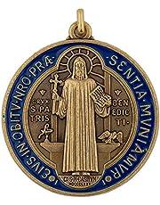 VILLAGE GIFT IMPORTERS Saint Benedict Medal and Information Card | Beautiful Craftsmanship | Patron Saint of Europe