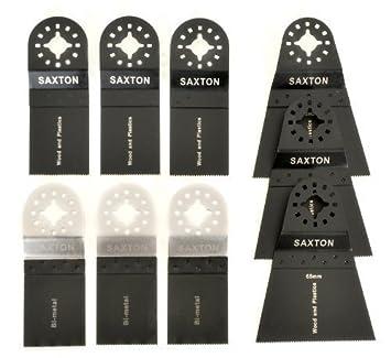 3x Saxton 65mm Wood Blades for Fein Multimaster Bosch Oscillating Multitool
