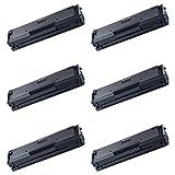 AMTONER 6 Packs Compatible Samsung MLT-D111S MLTD111S 111S MLT D111S Laser Toner Cartridge 2K Black for Xpress SL-M2020W M2070W M2070FW SL-M2070W/FW SL-M2070FW/XAA Wireless Monochrome Printers