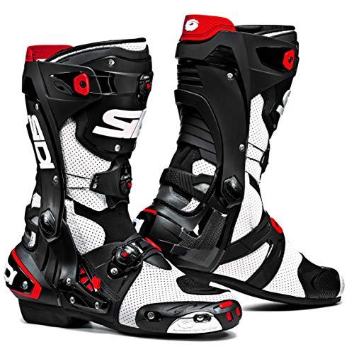 Sidi Rex Air Motorcycle Boots (9.5/43, White/Black)