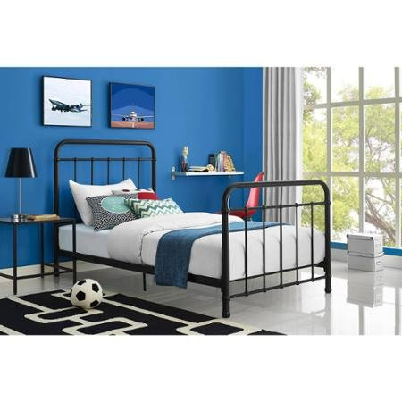Black Twin Panel Bed - Better Homes and Gardens Kelsey Metal Bed (Twin, Black)