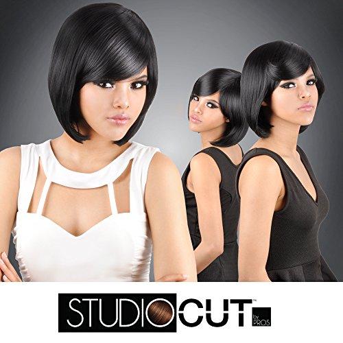 Studio Cut by Pros Synthetic Hair Wig Classic Sleek Cut (1) (Hair Studio Styles)