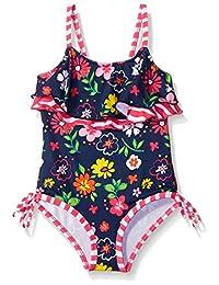 Pink Platinum Girls' Floral One Piece Swimsuit