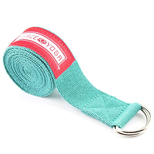 Peace Yoga 8ft Exercise Strap Turquoise