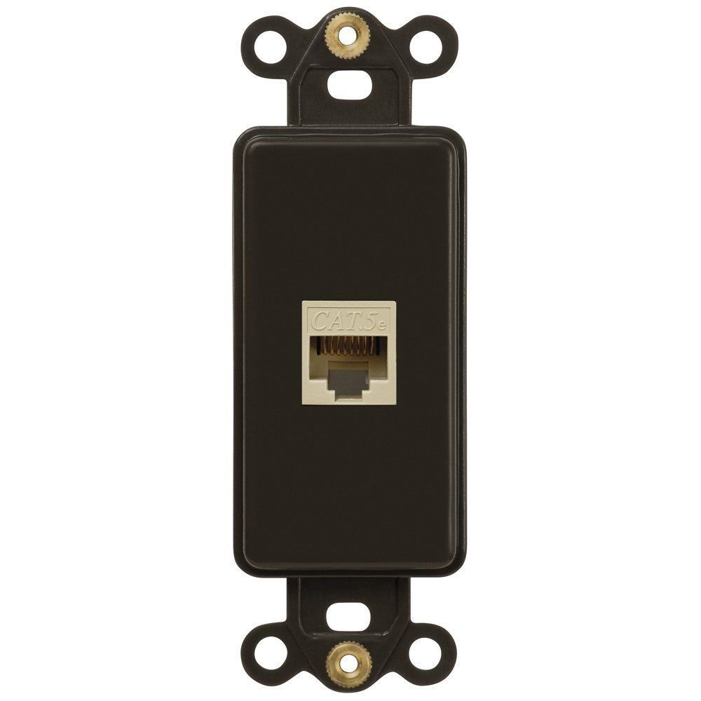 ETHERNET-SINGLE Oil Rubbed Bronze Wall Switch Plate Outlet Cover
