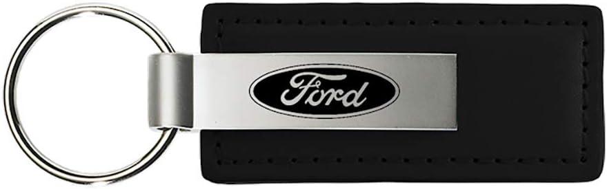 Au-Tomotive Gold Ford F-150 Duo Black Leather Key Chain INC