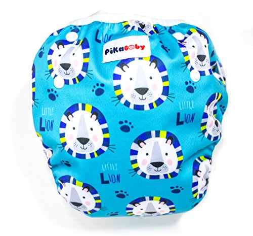 Baby swim diapers - Premium, stylish, Adjustable reusable swimming suit diapers shirt for toddler, boys and girls (Lion)